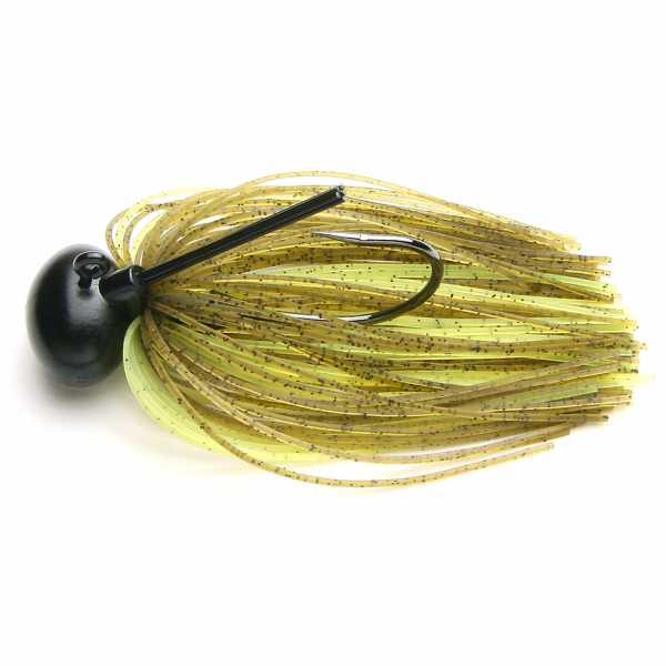 Rubber Jig Model II - Green Pumpkin/Chartreuse 401 - KEITECH