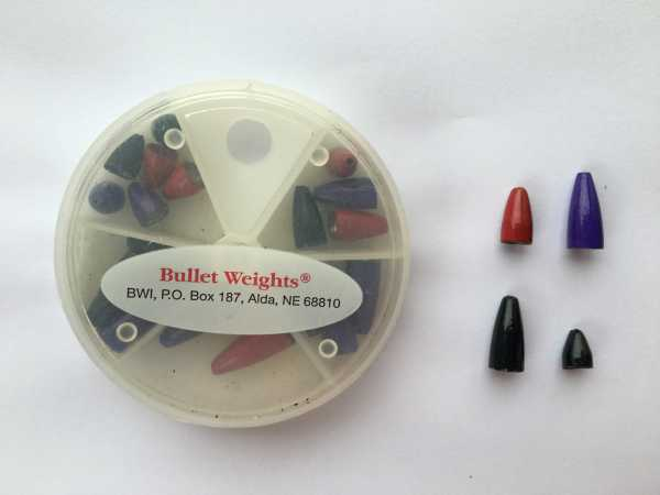 Painted Bullet Weights - 18 Teile
