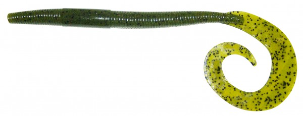 "10"" Big Curl Tail Worm - ca. 19 cm - Watermelon Seed - BBB"