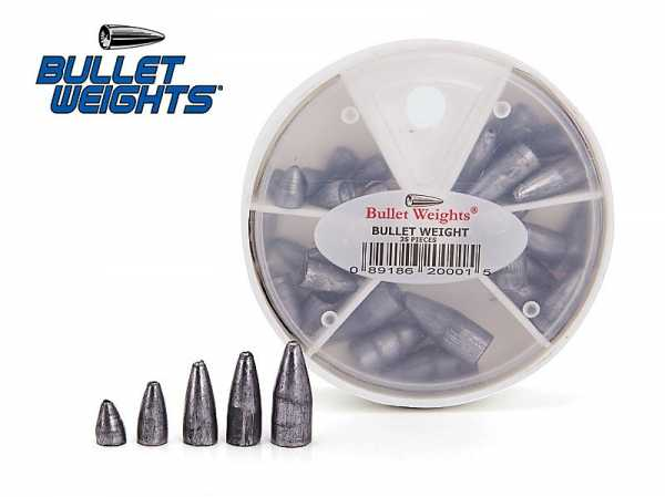 Bullet Weights Blei - Sortiment 35 Teile