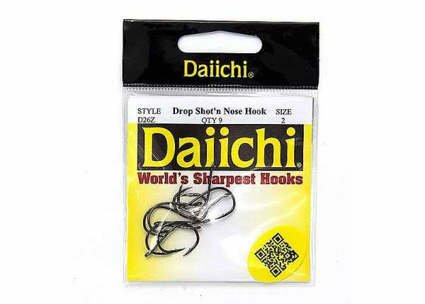 Daiichi Drop Shot'n Nose Hook (Black Nickel)